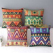 "NEW Colorful Imagine Cotton Linen Throw Pillow Case Cushion Cover Sofa Decor 17"""