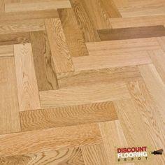 Engineered Herringbone Parquet Flooring Oak 18/5 x 80mm Lacquered 1.68m2