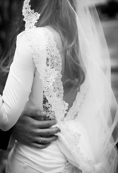 FOR THE ACCESSORIES || Long lace trimmed veil || NOVELA...where the modern romantics play and plan the most stylish weddings...Instagram: @novelabride