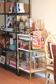Ikea Bygel Bar Cart. I still have my heart set on this one.