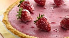 Frozen Strawberry Daiquiri Pie - The cocktail hour is sweeter when you add a frozen strawberry pie with all the fruity flavors of a daiquiri. This will taste so good on those hot summer days ahead.
