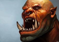 #Grom #Hellscream #digital #art #painting #drawing #illustration #warcraft #orc #fantasy #wow #world #of #warcraft #blizzard #tomcii #portrait #game #games #videogames #video  #orc #human #troll #horde