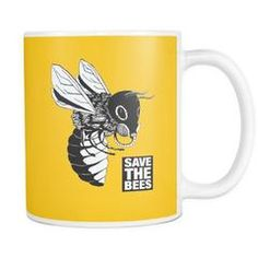 """Drinkware - """"Gasmask - Save The Bees"""" 11oz. Mug"""