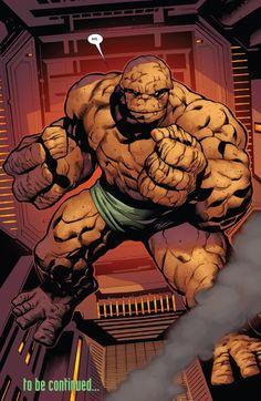 Thing (Ben Grimm) Fantastic Four. Comic Book Characters, Marvel Characters, Comic Character, Comic Books Art, Comic Art, Book Art, Hq Marvel, Marvel Comics Art, Marvel Heroes