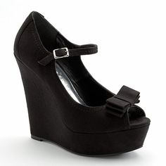 Lc Lauren Conrad Mary Jane Wedges - SALE $20.99