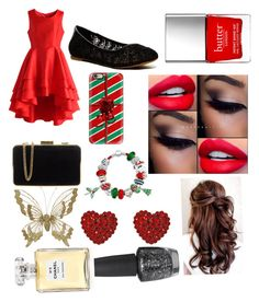 """Christmas"" by carlarparks on Polyvore featuring Chicwish, Lucky Brand, MICHAEL Michael Kors, Casetify, Bling Jewelry, Tarina Tarantino, OPI, Chanel and Butter London"