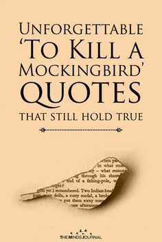 Read The Best Quotes Of To Kill a Mockingbird.The Unforgettable 'To Kill a Mockingbird' quotes that still hold true. The Minds Journal Great Quotes, Inspirational Quotes, Hold Me Quotes, Motivational Quotes, Bird Quotes, Quotes About Birds, To Kill A Mockingbird, Book Study, Literary Quotes