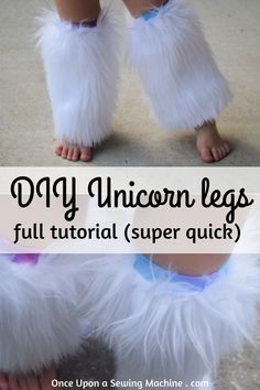 Tutorial: DIY Unicorn Legs - Once upon a time there was a sewing machineHalloween is coming! This tutorial is a quick project that works with messages for a last minute project. You can customize to Baby Unicorn Costume, Diy Unicorn, Unicorn Halloween Costume, Hallowen Costume, Unicorn Kids, Diy Halloween Costumes For Kids, Halloween Cosplay, Animal Costumes For Kids, Halloween Costume Sewing Patterns