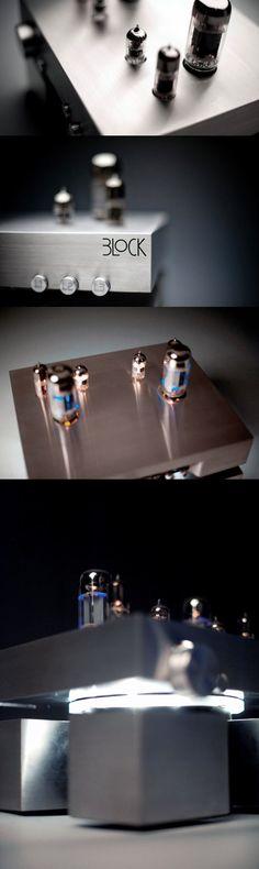 Block - Valve amplifier by creattica (via Creattica) High-End Audio Audiophile HiFi Stereo
