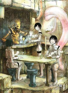 Sidonia no Kishi - Nihei Tsutomu - Mobile Wallpaper - Zerochan Anime Image Board Knights Of Sidonia, Image Boards, Mobile Wallpaper, Animation, Manga, Gallery, Anime, Painting, Art