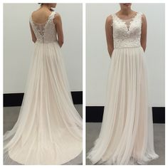 This whisper-soft Moonlight Bridal dress is even more stunning in person!
