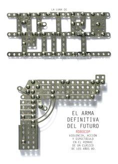 RoboCop (2014). El arma definitiva del futuro. Trabajo metalúrgico de Lucía Martín. Fotografía de José María Presas.  METRÓPOLI, edición nacional.