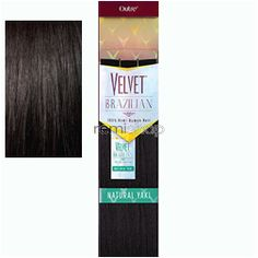 "Sat May 14, 2016 - #5: Velvet Brazilian Natural Yaki 18"" - Color 1B - Remi Weaving"