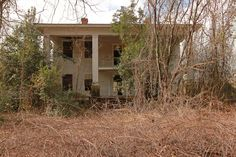 Abandoned mansion in McDuffie County, Georgia.
