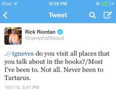 Sassy uncle rick strikes again! hes obviously not had real Italian Pizza! Felt insulted when he insulted Italian pizza Well that's a lie. Of course he has been to Tartarus! He through our OTP there he deserves to be thrown there too! Percy Jackson Memes, Percy Jackson Books, Percy Jackson Fandom, Solangelo, Percabeth, Nerd, Trials Of Apollo, Leo Valdez, Rick Riordan Books