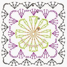 crochelinhasagulhas: Quadradinhos em crochê