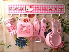 Heck yeah!  Hello Kitty utensils! but also probably just cooking utensils period, cause ... i dont actually own any ... so i never measure things correctly. i DO own a pyrex 2 cup tempered glassliquid  measuring cup though...