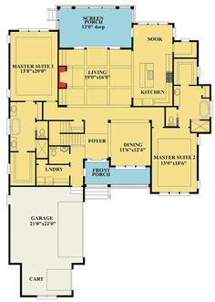 Luxury House Plans With Two Master Suites For the Home Pinterest