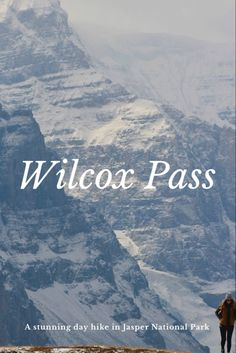 Wilcox Pass is one of the most beautiful day hikes in Jasper National Park Canada National Parks, Jasper National Park, Beautiful Places To Visit, Cool Places To Visit, Hiking With Kids, Adventure Activities, Day Hike, Canada Travel, Kayaking