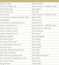 Over the years, I have made a collection of songs that were used or recommended for a groom's dance with his mother. I am sure there are more. I know some of these might seem a little unusual or even comedic. Surely, there will be some ideas here that you didn't think of, and some …