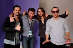 ❤️❤️❤️❤️love you guys❤️❤️❤️❤️ Thirty Seconds, 30 Seconds, Shannon Leto, Jared Leto, Cool Bands, Eye Candy, Interview, Mens Sunglasses, Mars