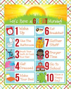i should be mopping the floor: Friday's Freebie: Children's Visual Schedules {For the Morning}