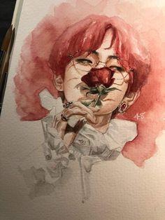 to drawing bts Inspiration Art, Art Inspo, Fashion Inspiration, Art Du Croquis, Taehyung Fanart, Red Day, Arte Sketchbook, Drawn Art, Kpop Drawings