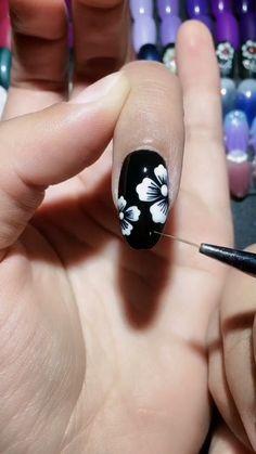 Simple nails art design video Tutorials Compilation Part 297 - Easy Nail Designs 💅 Nail Art Designs Videos, Long Nail Designs, Pretty Nail Designs, Diy Nail Designs, Simple Nail Art Designs, Acrylic Nail Designs, Fall Designs, Acrylic Colors, Summer Gel Nails