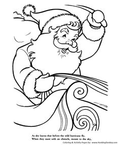 The Night Before Christmas Coloring pages | Not a creature was ...