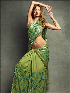 Giselle knows how to work a saree!