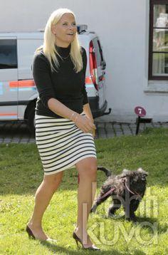 Crown Princess Mette-Marit at the Sculpture Park