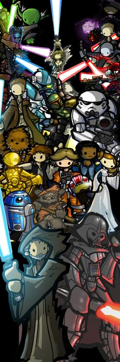 Star Wars Universe --I love this because Obi-Wan and Anakin are the center of this, because yes.