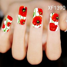 summer style flower design Water Transfer Nails Art Sticker decals lady women manicure tools Nail Wraps Decals wholesale flower #Affiliate