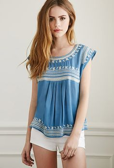 Embroidered Gauze Top | Forever 21 - #wishlist #summer 2015