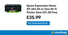 Epson Expression Home XP-342 All-in-One Wi-Fi Printer Save £31.50 Free Delivery, £35.99 at Amazon UK