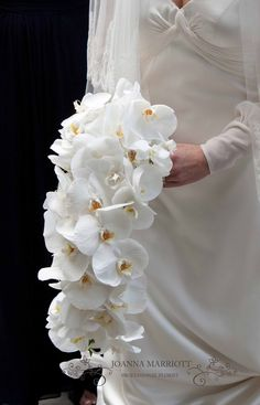 Shower white phalaenopsis Bridal Bouquet. Simple Beauty. Nothing less than perfect!