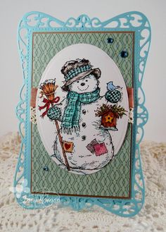 Snowman with birdhouse http://www.serendipitystamps.com/product/657H.html