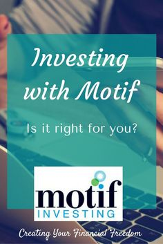 Are you a new investor who would like to get started but not sure what to invest in or how to get started? Does the stock market scare you? Try investing your money with Motif! Motif investing allows you to get started investing easily, with limited funds. Learn how you can do it today (including a how to video), and get a $100 bonus! /rachylkafonek/
