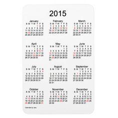 2015 Holiday #Calendar by Janz 4x6 Magnet