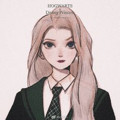 Disney Princess x Hogwarts # Disney Princess Art, Disney Princess Pictures, Disney Art, Disney Movies, Disney Hogwarts, Disney And Dreamworks, Disney Pixar, Walt Disney, Disney Cartoons