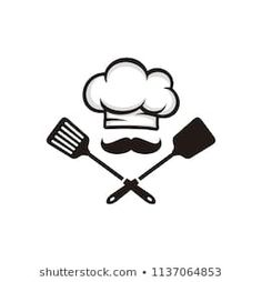 Find Chef Logo Vector stock images in HD and millions of other royalty-free stock photos, illustrations and vectors in the Shutterstock collection. Kitchen Logo, Kitchen Art, Creperia Ideas, Chef Tattoo, Cake Icon, Cartoon Chef, Japanese Food Sushi, Animal Outline, Chef Logo