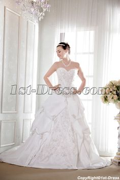 Exquisite Embroidery Fall 2013 Bridal Gown:1st-dress.com