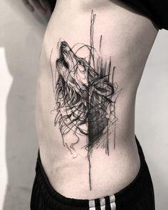 La imagen puede contener: una o varias personas - My list of the most creative tattoo models Wolf Tattoos Men, Badass Tattoos, Leg Tattoos, Body Art Tattoos, Girl Tattoos, Tattoos For Guys, Tatoos, Creative Tattoos, Unique Tattoos
