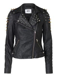 Lupe Short PU Jacket  #Studs #Jacket #VEROMODA