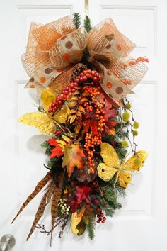 Fall SwagFall Berries SwagPumpkin SwagDeco by WreathdesignsbyJulma