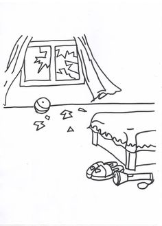 Print coloring page and book, Tornado Safety Coloring Page