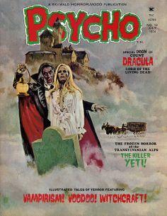 Psycho   pulp comics magazine cover art