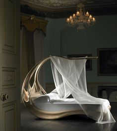WAN INTERIORS PRODUCTS:: ENIGNUM CANOPY BED by Joseph Walsh