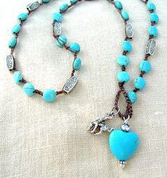 Sundance Boho turquoise necklace boho bracelet by BlueRanchJewelry, $28.00