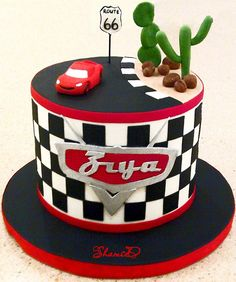 https://flic.kr/p/f83DQf   lightning mcqueen car cake   Car topper was not made by me but supplied by client